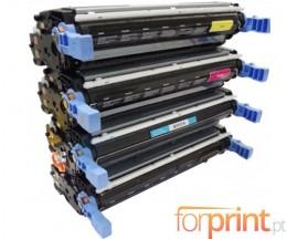 4 Cartuchos de Toneres Compatibles, HP 643A Negro + Colores ~ 11.000 / 10.000 Paginas