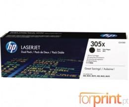 2 Cartuchos de Toneres Originales, HP 305X Negro ~ 4.000 Paginas