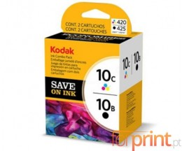 2 Cartuchos de tinta Originales, Kodak 3949948 Negro 15ml + Colores 60ml ~ 420 Paginas