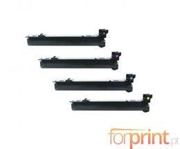 4 Cartuchos de Toneres Compatibles, Konica Minolta A06VX53 Negro + Colores ~ 12.000 Paginas