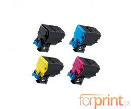 4 Cartuchos de Toneres Compatibles, Konica Minolta A5X0X50 Negro + Colores ~ 10.000 Paginas