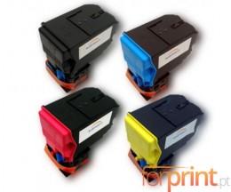 4 Cartuchos de Toneres Compatibles, Konica Minolta A0X5X50 Negro + Colores ~ 6.000 Paginas
