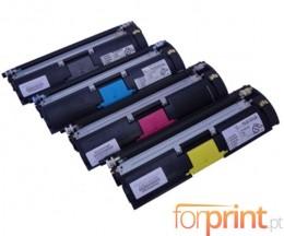 4 Cartuchos de Toneres Compatibles, Konica Minolta A00WX32 Negro + Colores ~ 4.500 Paginas