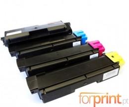 4 Cartuchos de Toneres Compatibles, Kyocera TK 580 Negro + Colores ~ 4.000 / 3.000 Paginas