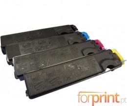 4 Cartuchos de Toneres Compatibles, Kyocera TK 500 Negro + Colores ~ 8.000 Paginas
