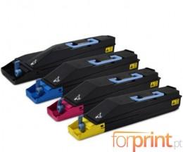 4 Cartuchos de Toneres Compatibles, Kyocera TK 865 Negro + Colores ~ 20.000 / 12.000 Paginas
