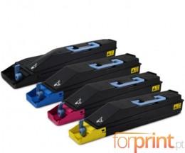 4 Cartuchos de Toneres Compatibles, Kyocera TK 880 Negro + Colores ~ 25.000 / 18.000 Paginas