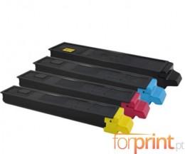 4 Cartuchos de Toneres Compatibles, Kyocera TK 8315 Negro + Colores ~ 12.000 / 6.000 Paginas