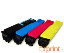 4 Cartuchos de Toneres Compatibles, Kyocera TK 550 Negro + Colores ~ 7.000 / 6.000 Paginas