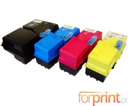 4 Cartuchos de Toneres Compatibles, Kyocera TK 825 Negro + Colores ~ 15.000 / 7.000 Paginas