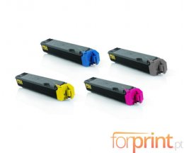 4 Cartuchos de Toneres Compatibles, Kyocera TK 5160 Negro + Colores ~ 16.000 / 14.000 Pages