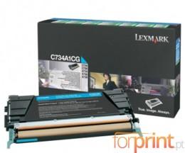 Cartucho de Toner Original Lexmark C734A1CG Cyan ~ 6.000 Paginas