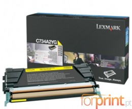 Cartucho de Toner Original Lexmark C734A1YG Amarillo ~ 6.000 Paginas