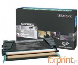 Cartucho de Toner Original Lexmark C736H1KG Negro ~ 12.000 Paginas
