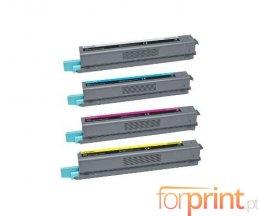 4 Cartuchos de Toneres Compatibles, Lexmark C925H Negro + Colores ~ 8.500 / 7.500 Paginas