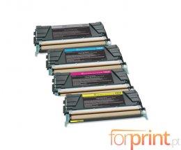 4 Cartuchos de Toneres Compatibles, Lexmark C746 Negro + Colores ~ 12.000 / 7.000 Paginas