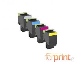 4 Cartuchos de Toneres Compatibles, Lexmark 702H Negro + Colores ~ 4.000 / 3.000 Paginas