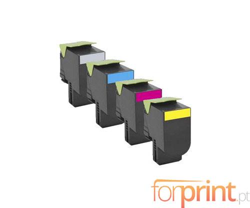 4 Cartuchos de Toneres Compatibles, Lexmark 802H Negro + Colores ~ 4.000 / 3.000 Paginas
