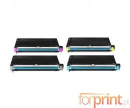 4 Cartuchos de Toneres Compatibles, Lexmark X560H Negro + Colores ~ 10.000 Paginas