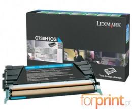 Cartucho de Toner Original Lexmark C736H1CG Cyan ~ 10.000 Paginas