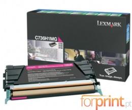 Cartucho de Toner Original Lexmark C736H1MG Magenta ~ 10.000 Paginas