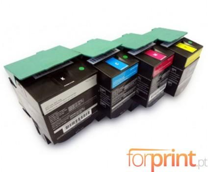 4 Cartuchos de Toneres Compatibles, Lexmark C540H1 ~ 2.500 / 2.000 Paginas