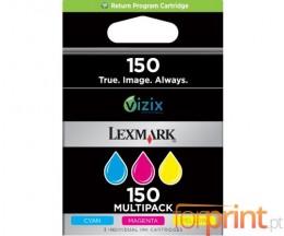 3 Cartuchos de tinta Originales, Lexmark 150 Colores ~ 200 Paginas