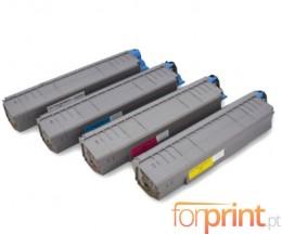 4 Cartuchos de Toneres Compatibles, OKI 4405910X ~ 8.000 Paginas