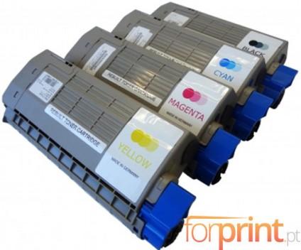 4 Cartuchos de Toneres Compatibles, OKI 4431860X Negro + Colores ~ 11.000 / 11.500 Paginas