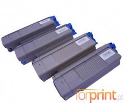 4 Cartuchos de Toneres Compatibles, OKI 4332442X Negro + Colores ~ 6.000 / 5.000 Paginas