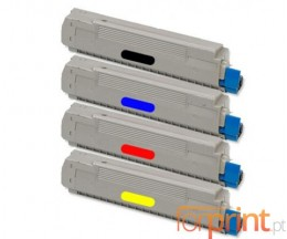 4 Cartuchos de Toneres Compatibles, OKI 434877XX ~ 6.000 Paginas
