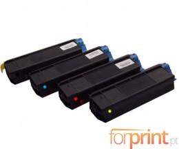 4 Cartuchos de Toneres Compatibles, OKI 4212740X ~ 5.000 Paginas