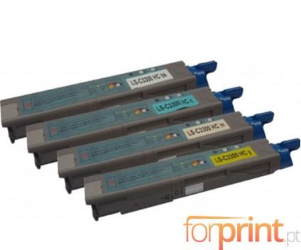 4 Cartuchos de Toneres Compatibles, OKI 4345943X ~ 2.500 Paginas