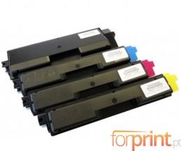 4 Cartuchos de Toneres Compatibles, Olivetti P2026 Negro + Colores ~ 7.000 / 5.000 Paginas