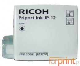 5 Cartuchos de tinta Originales, Ricoh Type JP 12 Negro 600ml