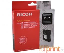 Cartucho de Tinta Original Ricoh GC-21 K Negro ~ 1.500 Paginas