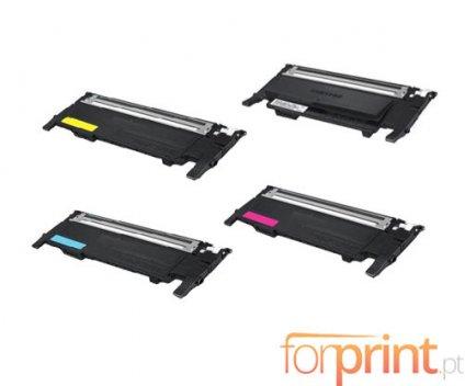 4 Cartuchos de Toneres Compatibles, Samsung 404S Negro + Colores ~ 1.500 / 1.000 Paginas