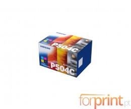 4 Cartuchos de Toneres Originales, Samsung P504C Negro + Colores ~ 2.500 / 1.800 Paginas