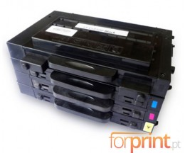 4 Cartuchos de toneres Compatibles, Samsung 500D Negro + Colores 7.000 / 5.000 Pages