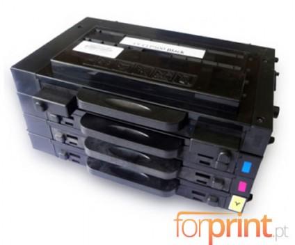 4 Cartuchos de toneres Compatibles, Samsung 500D Negro + Colores 7.000 / 5.000 Pages