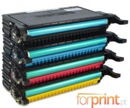4 Cartuchos de Toneres Compatibles, Samsung 6092S Negro + Colores ~ 7.000 Paginas