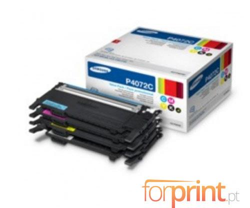 4 Cartuchos de Toneres Originales, Samsung 4072S Negro + Cor ~ 1.500 / 1.000 paginas