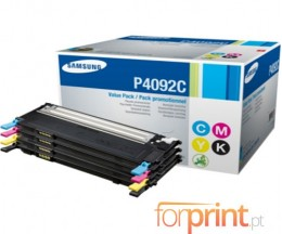 4 Cartuchos de Toneres Originales, Samsung 4092S Negro + Color ~ 1.500 / 1.000 Paginas