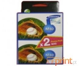 2 Cartuchos de tinta Originales, Samsung M-40 Negro 14ml
