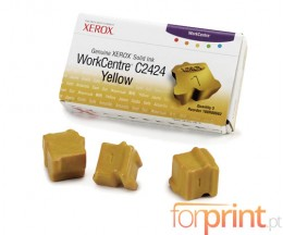 3 ColorSticks Originales, Xerox 108R00662 Amarillo ~ 3.400 Paginas