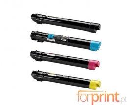 4 Cartuchos de Toneres Compatibles, Xerox 106R0143X Negro + Colores ~ 19.800 / 17.800 Paginas