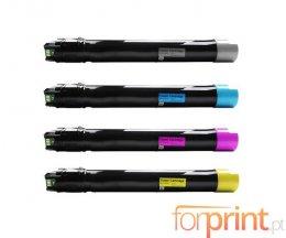 4 Cartuchos de Toneres Compatibles, Xerox 106R0156X Negro + Colores ~ 24.000 / 17.200 Paginas