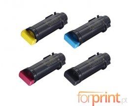 4 Cartuchos de Toneres Compatibles, Xerox 106R034XX Negro + Colores ~ 5.500 / 2.400 Paginas