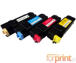 4 Cartuchos de Toneres Compatibles, Xerox 6125 Negro + Colores ~ 2.000 / 1.000 Paginas