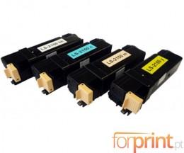 4 Cartuchos de Toneres Compatibles, Xerox 6140 Negro + Colores ~ 2.600 / 2.000 Paginas